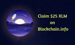 Claim $25 XLM on Bockchain info
