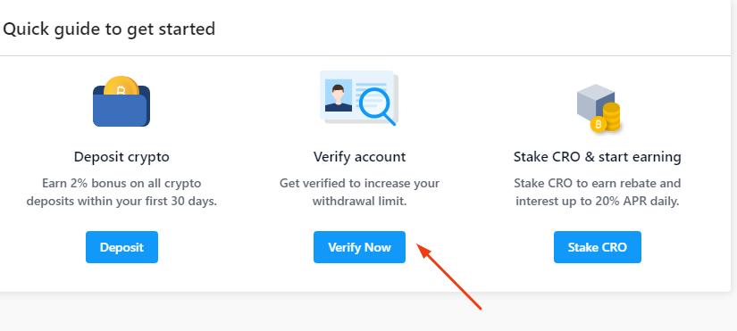 crypto.com verify account