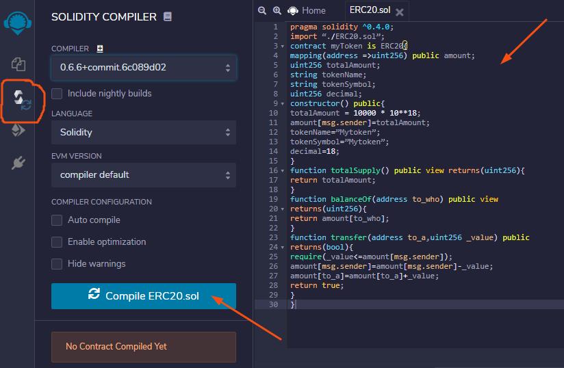 ethereum smart contract compiler