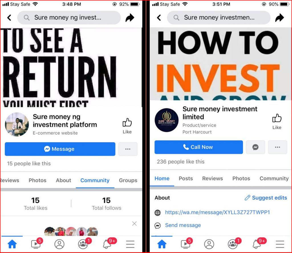 sure money ng facebook