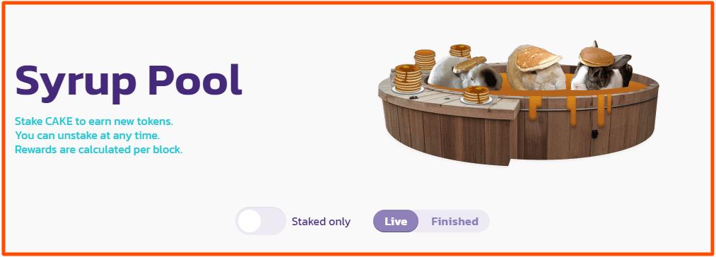 PancakeSwap pool