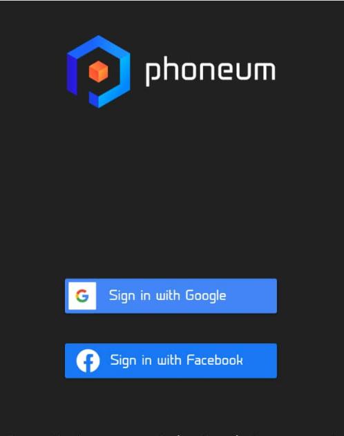 phoneum sign up